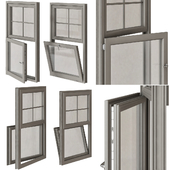 Triple glazed sash window