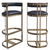 Chair - Calvin bar chair in ANTIQUE BRASS