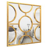 Roulers Square Leaf Wall Mirror HOHN7674