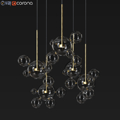 Suspension light Giopato & Coombes Bolle Circular Chandelier 24 Bubbles