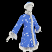 Fur coat for the Snow Maiden