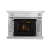 Ashley White Wood Grain Asian Hardwood Traditional Fireplace Surround at lowes