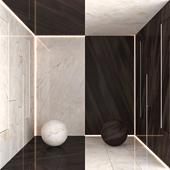 Elegant Brown and Calcatta Carrara Marble