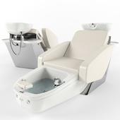 Maletti Mercury Air Massage wash unit with pedicure bowl