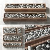 White pebble in box / Белая галька в формах