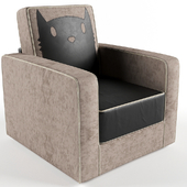 Fly Kitten kids armchair gray