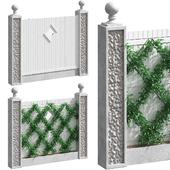 Забор с озеленением