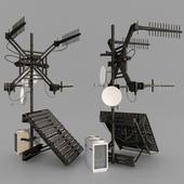 Satellite dish, radio