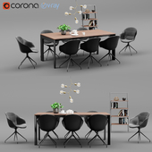 Boconcept Lyon Table&Adelaide Chair