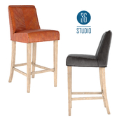 OM Leather bar stool model H374 from Studio 36