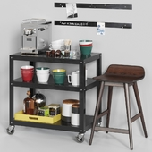 CB2 Exclusive rolling cart