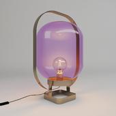 Table Lamp Jupiter Pink-Brass
