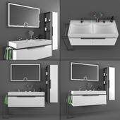 DRN bathroom cabinet and sink set