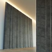Decorative wall. Soft panel. eight
