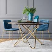 Calligaris Love chair Stellar table set