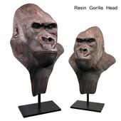 Resin Gorilla Head