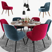 375 Walter Knoll Dining Chair Set
