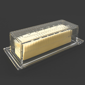Crate and Barrel Stick Butter Dish