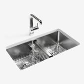 """KOHLER """"Strive"""" under-mount double-equal kitchen sink"""