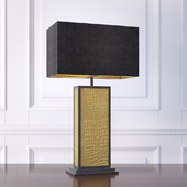The David Hunt Lighting Collection CROC black & gold table lamp