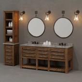 RH / EARLY 20TH C. MERCANTILE bathroom set