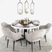 Euro Saarinen Dining Chair Set