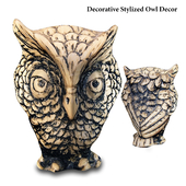 MaceSpace - Decorative Stylized Owl Decor
