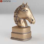 Noble Horse Golden Bookends