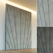 Decorative wall. Soft panel. ten