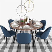 Laforma Mystere Dining Chair Table Set