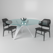Arc table and chair