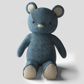 Pottery Barn Kids Denim Teddy Bear
