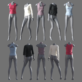 Женская одежда с манекенами 4