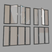 Doors-partition profile metal plastic-glass