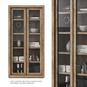 Restoration Hardware / Reclaimed Russan Oak Glass Double-Door Cabinet
