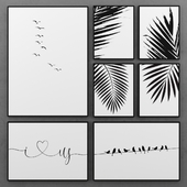 Set of black and white posters | 2