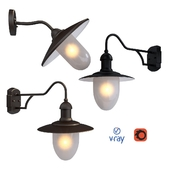 ARUBA, outdoor lighting, wall lamps from the company LUCIDE, Belgium.