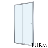 Shower door to STURM Viva niche