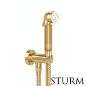 Гигиенический душ STURM Lilie, цвет золото