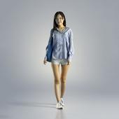 Woman Jess Casual Walking 001
