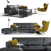 Sofa SQUARE from Calligaris