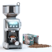 Breville Grinder and Starbucks Coffee Packaging