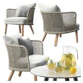 Varaschin Emma Lounge armchair set