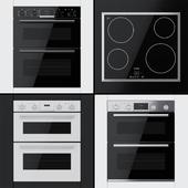 Bosch - Dual ovens NBS533BB0B, NBS533BW0B, NBS533BS0B and hob PKE645B17E