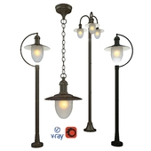 Outdoor lighting, model ARUBA, lamps from the company LUCIDE, Belgium.
