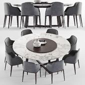 Poliform Grace chair & Concorde Round table