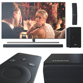 Телевизор 55' и саундбар Samsung.