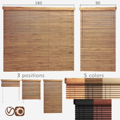 Wooden blinds 25mm, 2 options of width 90 and 180cm