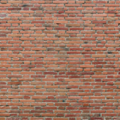 Classical red brick wall texture
