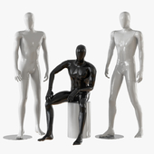 Three male mannequins 21